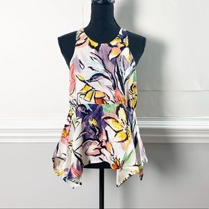 Anthropologie Tops - Anthro HD in Paris Lucille Floral Waterfall Hem